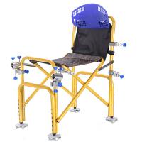 钓椅 多功能可折叠钓鱼椅可升降带炮台架钓鱼椅子大号骑式钓鱼凳休闲台钓椅套装 如图 34*50*70cm