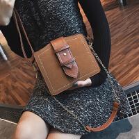 链条小包包女2018新款韩版时尚气质单肩包百搭磨砂复古斜跨包