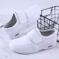 护士鞋棉鞋护士鞋白色坡跟棉鞋气垫医院工作鞋防滑2019新款韩版冬季软皮srr