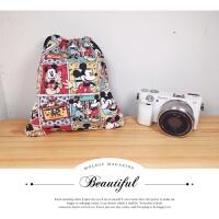 可爱卡通单反微单相机包相机袋索尼A6000 EOS M6 200D XA5 A7 XA3 拍立得微单相机包