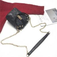 chic链条包斜挎小包亮片水桶包手提女包欧美时尚单肩包潮