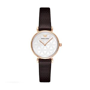 阿玛尼(Emporio Armani)手表皮质表带时尚休闲简约石英女士腕表AR1990