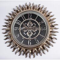 欧式挂钟客厅钟表静音时钟 时尚创意圆形壁钟超大号挂表复古墙钟