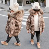№【2019新款】冬天儿童穿的儿童棉衣冬中大童羽绒男童加厚童装棉袄长款迷彩外套
