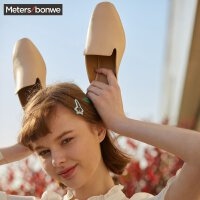 【1件2.5折叠券约:28.7,6月5日仅此一天】美特斯邦威新款女时尚方头后空时装鞋