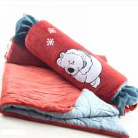 ???卡通森林动物糖果枕抱枕被子两用空调被毯子二合一抱枕头