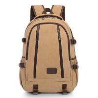 男士双肩包复古韩版帆布男包学生包电脑包大容量旅行背包