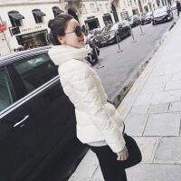 №【2019新款】冬天美女穿的2018冬新款网红小辣椒M家收腰黑色轻薄短款羽绒服修身外套女