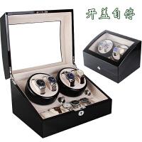 进口摇表器机械手表自动上链盒旋转表达盒晃表器转表器升级版 4+6外黑内绒布 (开盖自停)
