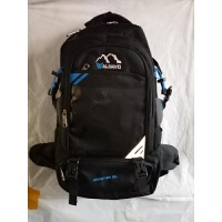 百佳威双肩包新款50L大容量防泼水背包中学生书包登山包 56-75升