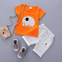 2018夏季新款1儿童衣服2男童短袖套装3儿童夏装4女宝宝T恤两件套