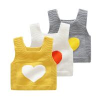男宝宝女婴儿童装马甲保暖毛线针织衫背心春秋装1岁0秋季小童外穿