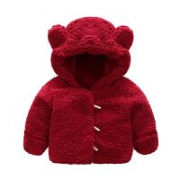 婴儿衣服冬季女童洋气外套装1岁5男宝宝保暖秋冬装
