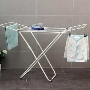 【领券满188减100】ORZ 小空间版象牙白色双翼晾衣架 可折叠阳台卧室衣架多用途衣物毛巾被子晾晒架