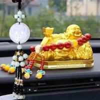 汽车摆件佛弥勒佛像车载时尚装饰品车内车上香水座摆件