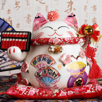 招财猫摆件大号发财猫店铺开业礼品陶瓷储蓄罐创意家居装饰品