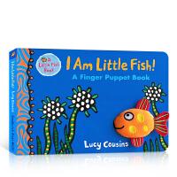 【全店300减100】英文原版I Am Little Fish! a Finger Puppet Book 我是小鱼!手