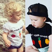 INS女宝宝短袖T恤夏装童装婴儿童上衣夏季女童短袖纯棉t恤潮