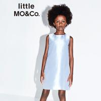 【到手价624】littlemoco夏季新品女童连衣裙洋气桑蚕丝缎面礼服裙无袖公主裙
