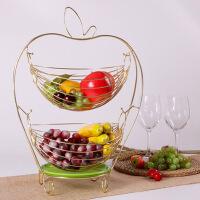 创意水果篮摇摆收纳篮客厅双层水果盘糖果盘沥水篮