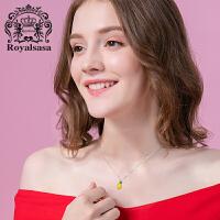 皇家莎莎银饰菠萝少女项链日韩时尚锁骨链女S925银韩国气质女颈链