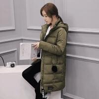 冬季外套女棉衣女中长款学生女装韩版加厚羽绒冬装女棉袄宽松