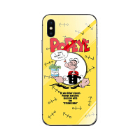 卡通手机壳iPhonex/6s/nova4/oppo/vivo小米8/9可爱玻璃壳潮
