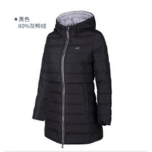 赛琪连帽羽绒服女长款2017冬季新款防风保暖休闲服韩版羽绒外套女
