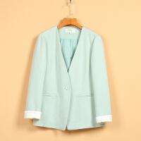 【秋】剪标女装新款春8Q1319学院风纯色时尚短外套