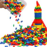 儿童火箭子弹头玩具积木益智拼插塑料幼儿园3-6-7-8周岁男孩早教