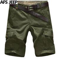 夏新款AFS JEEP吉普短裤男士多口袋裤男大码5分短裤沙滩裤6616