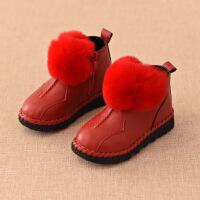 №【2019新款】冬天小朋友穿的宝宝靴子岁鞋女儿童冬鞋加绒公主短靴鞋子女童雪地靴