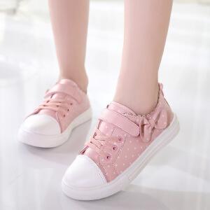 女童小白鞋2018新款潮韩版儿童运动鞋透气百搭休闲白色板鞋春秋季