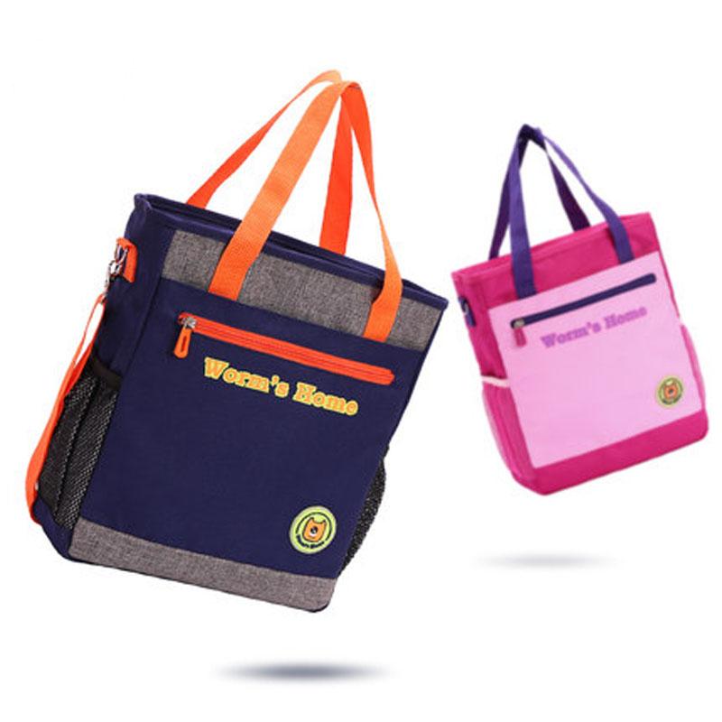 女童公主斜挎包美术工具包小学生书包男补习袋儿童补课包手提袋