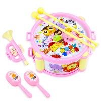 婴幼儿童铃鼓3个月婴儿手拍鼓摇铃手铃鼓敲敲鼓响铃0-1岁女孩玩具