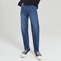 【1件3折价:134.7,可叠券】男修身直筒九分牛仔长裤