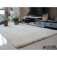 长毛加厚弹力丝白色地毯客厅茶几垫子圆形地垫服装店橱窗拍照地毯
