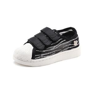 比比我儿童板鞋韩版百搭学生魔术贴男童鞋2017秋季新款女童休闲鞋