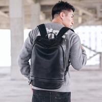 大容量户外旅行包背包 简约皮质街头休闲双肩包 个性潮男背包2018