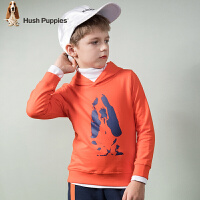 【3件3折:98元】暇步士童装春季新款男童连帽卫衣时尚简约套头卫衣儿童卫衣