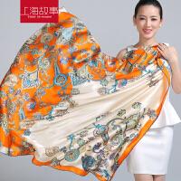 上海故事 真丝丝巾女士围巾春秋秋冬围巾女真丝围巾大方巾