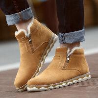 冬季雪地靴男士加绒保暖棉鞋男加厚防滑短靴防水马丁鞋男靴子
