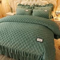 床单四件套 1.8m床加厚床裙珊瑚绒被子四件套床单1.8m床上双面水晶被套法兰绒