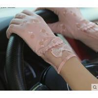 新品防紫外线可爱薄款手套防晒手套短款蕾丝手套女