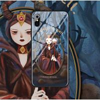 chichi原创iphone xs max苹果x手机壳玻璃xr女8plus全包7个性6s潮 6/6s小屏 (玻璃-女巫