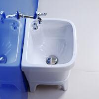 拖把池阳台小号陶瓷洗拖布池台控墩布池家用卫生间方形自动下水器