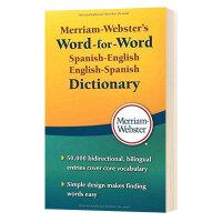 韦氏西班牙语英语逐字逐句词典 英文原版 Merriam-Webster's Word-for-Word Spanish-