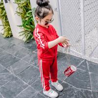 女童运动套装春装新款韩版儿童春秋宝宝洋气时尚潮衣