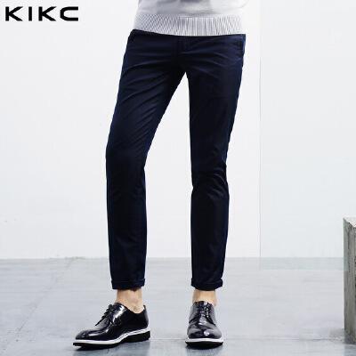 kikc休闲裤男2018秋季新款青少年纯色时尚简约直筒潮流长裤子男