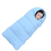 婴儿睡袋 中小儿童防踢被秋冬加绒新生儿睡袋宝宝抱被婴儿推车垫被